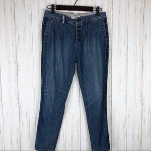 Free people size 25 embroidered jeans
